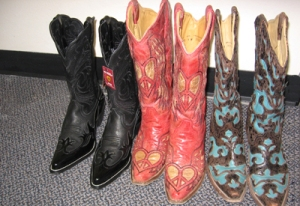 Designer cowboys can be fitted with an insert or orthotic