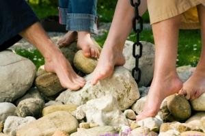 Group bare feet